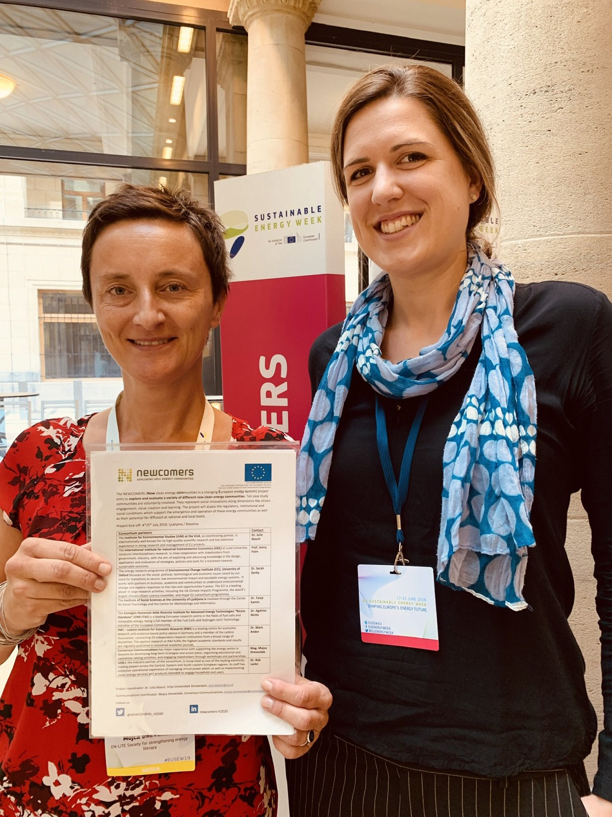 Dr. Julia Blasch and Mag. Mojca Drevenšek at EU Sustainable Energy Week.